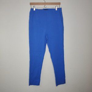 Who What Wear Blue Flat Front Skinny Ankle Pants
